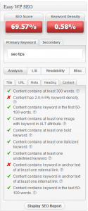 Easy WP SEO - SEO Tips in your website