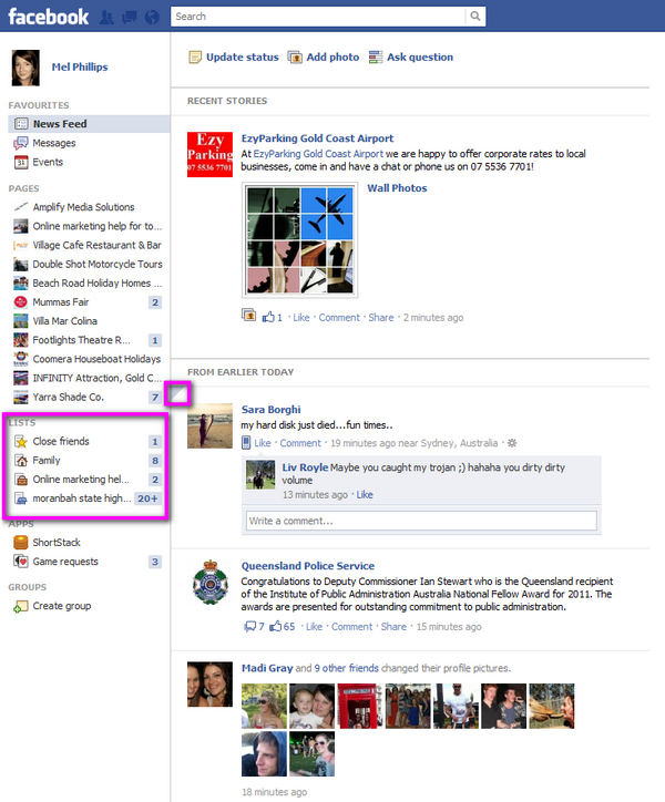 Facebooks new news feed