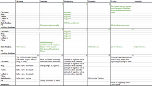 our communication calendar
