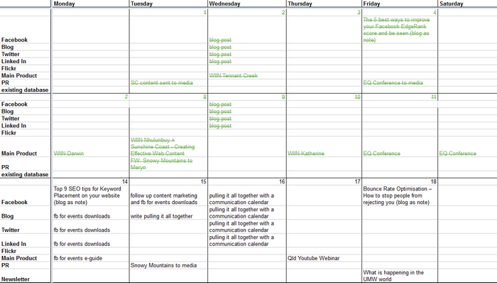 Pulling It All Together With A Communication Calendar - Communications calendar template