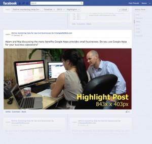 Facebook Higlight Post