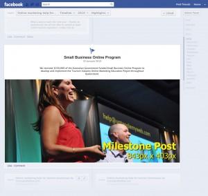 Facebook Milestone Post