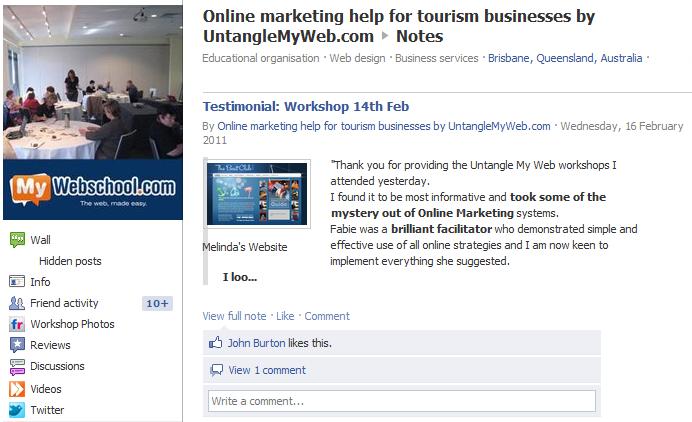 Utilise notes to maximise Facebook SEO