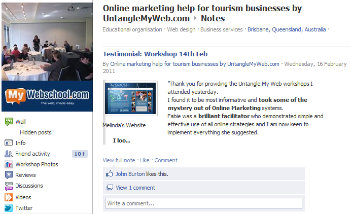 Utilise notes to maximise Facebook SEO